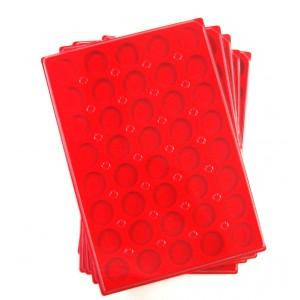 PLATEAUX DE RANGEMENT EN PLASTIQUE POUR MUSELETS 40 CASES RONDES LOT 50 BOX