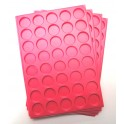 A12-PLATEAU 40 CASES RONDES PLASTIQUE ROSE PAR 100