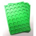 A15-PLATEAU 40 CASES RONDES PLASTIQUE VERT PAR 100