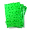 A40-PLATEAU 40 CASES RONDES PLASTIQUE VERT + COUVERCLES PAR 10