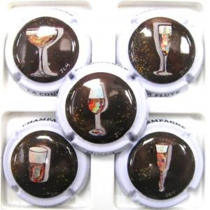 de Champagne  générique DRINCK Champagne caps Série de  4 Nouv