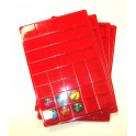 C31-PLATEAU 40 CASES CARREES VELOURS ROUGE + COUVERCLE PAR 10