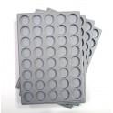 A17-PLATEAU 40 CASES RONDES PLASTIQUE GRIS PAR 10