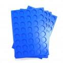 A21-PLATEAU 40 CASES RONDES EN PLASTIQUE BLEU PAR 100